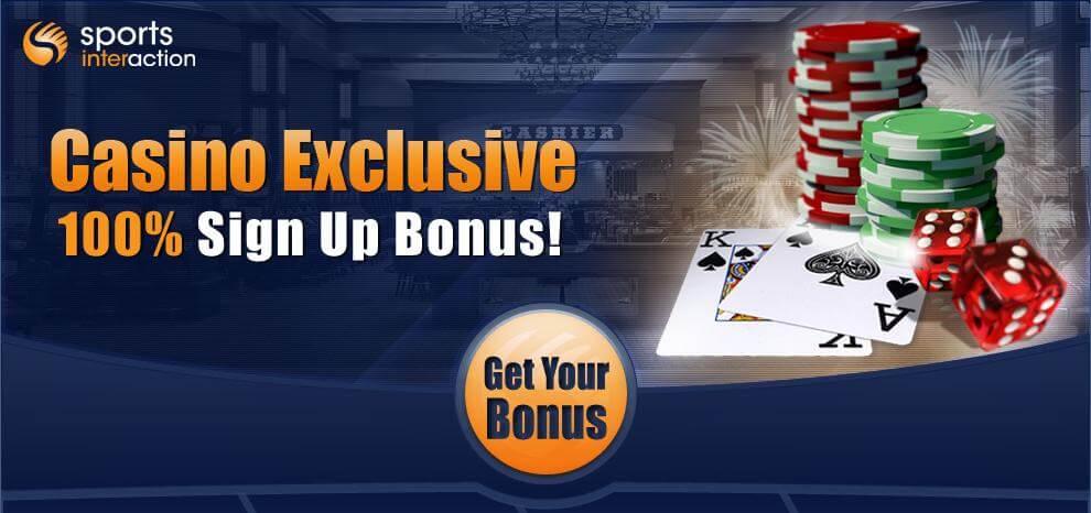 Sports Interaction Casino welcome bonus